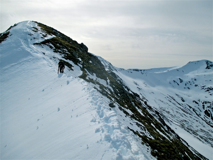 Approach to Stob Coire a'Chairn
