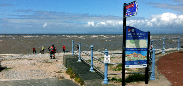 Morecambe - the start of the Way of the Roses