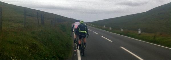 On the famous TT mountain road, rain imminent!