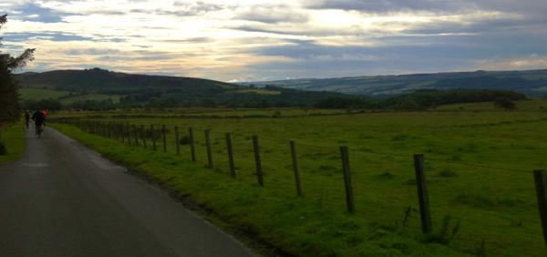 A beautiful morning near Vindolanda on Hadrian's Cycle Way