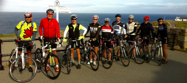 The group at the start of the journey