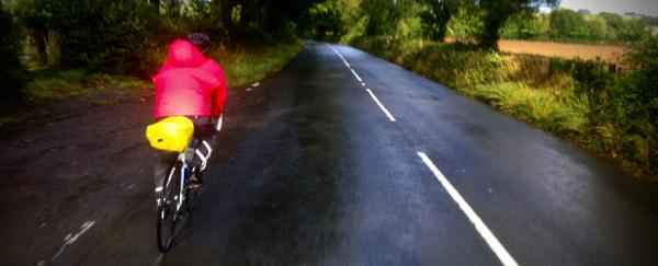 Riding on through the rain
