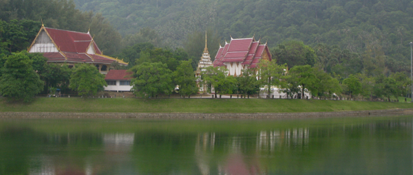 Wat near Nai Harn beach