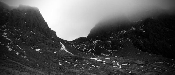 Atmospheric crags on the approach