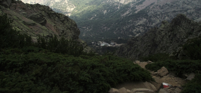 The descent to Haut Asco