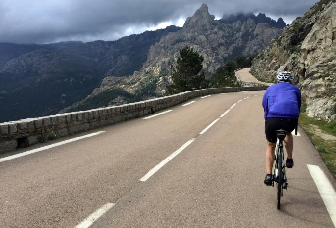Approaching the Col de Bavella