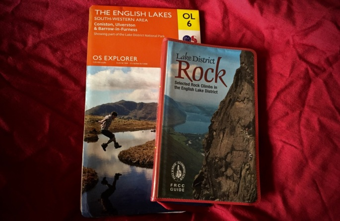 Map and guidebook for Bowfell Buttress