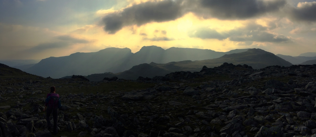 Sunset over the Scafells