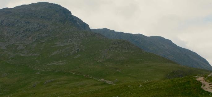 Heading towards the climbers' traverse