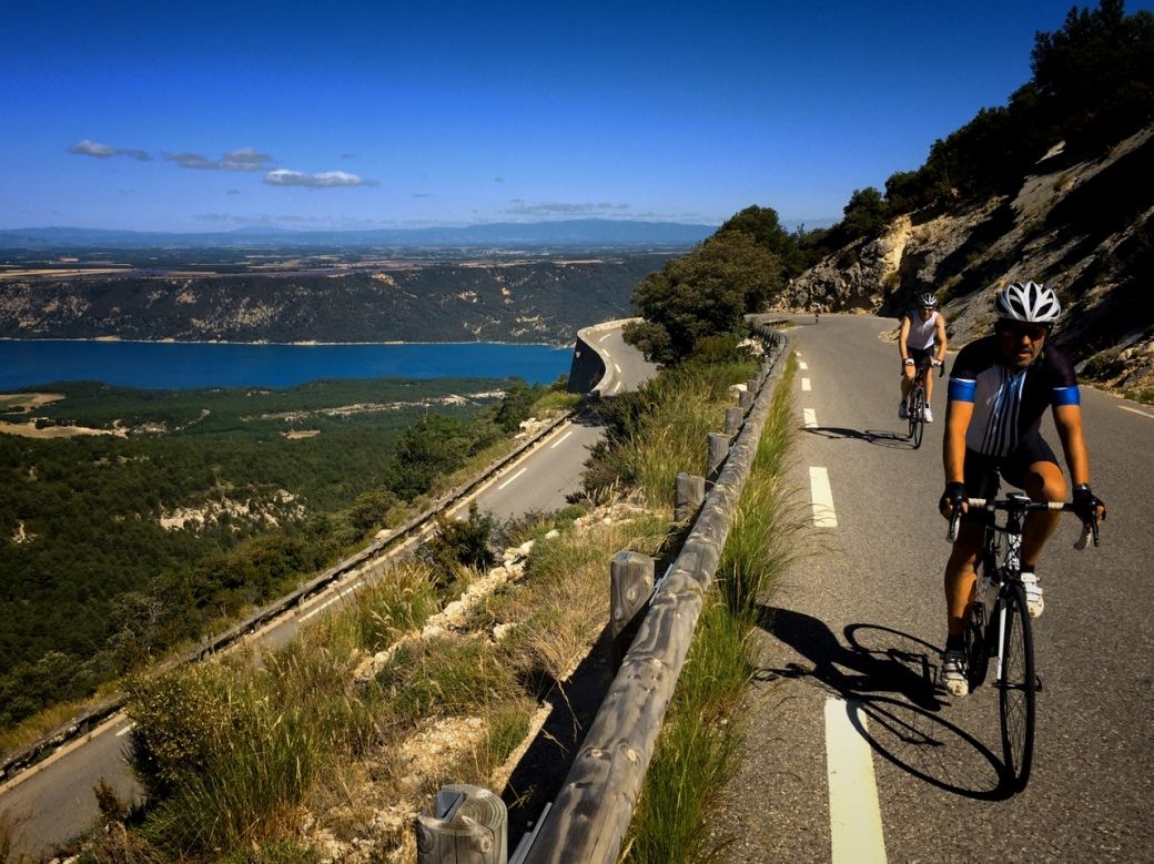 Climbing towards the Verdon Gorge