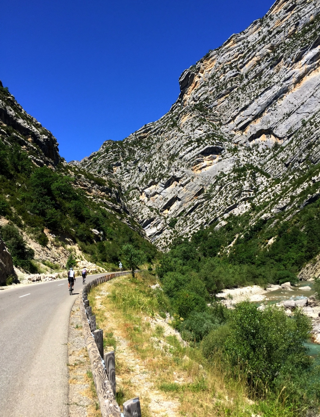 Towards the top of the Verdon