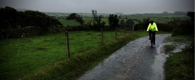 Rainy moor crossing