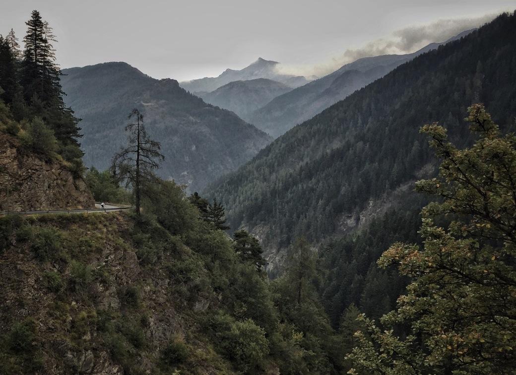 Descending the Col d'Allos