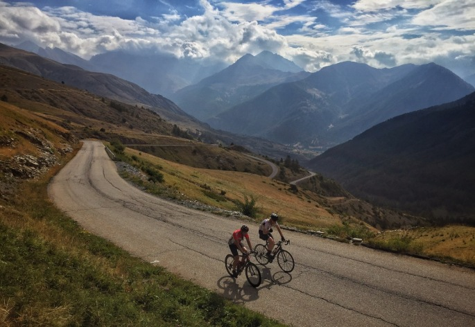 Stunning cycling in the high Alps