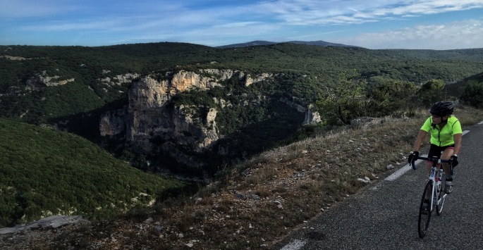 Riding around the Ardèche