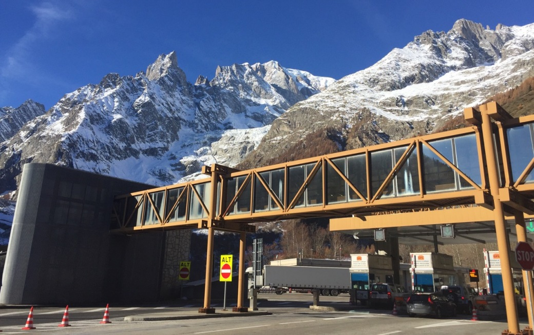 Entering the Mont Blanc tunnel