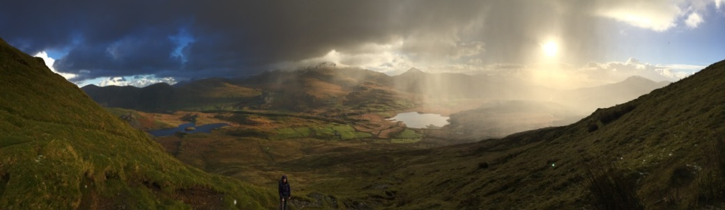 Beginning of a day on the Nantlle ridge