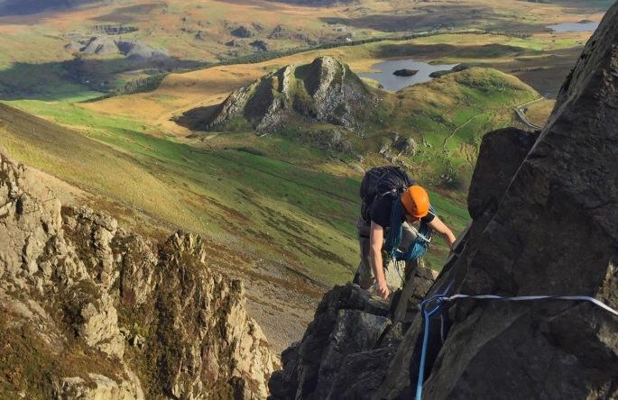Climbing Sentries Ridge