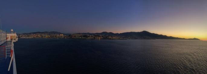 Sunrise over Genoa