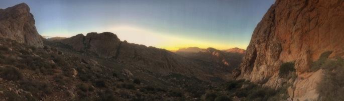 Sunset at Adrar Iffran